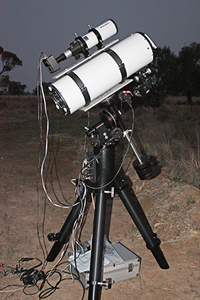Our smaller telescope for our outback expeditions