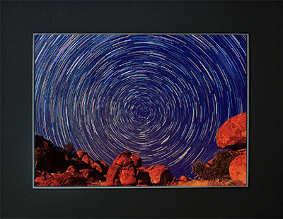 Star Trails over Devils Marbles